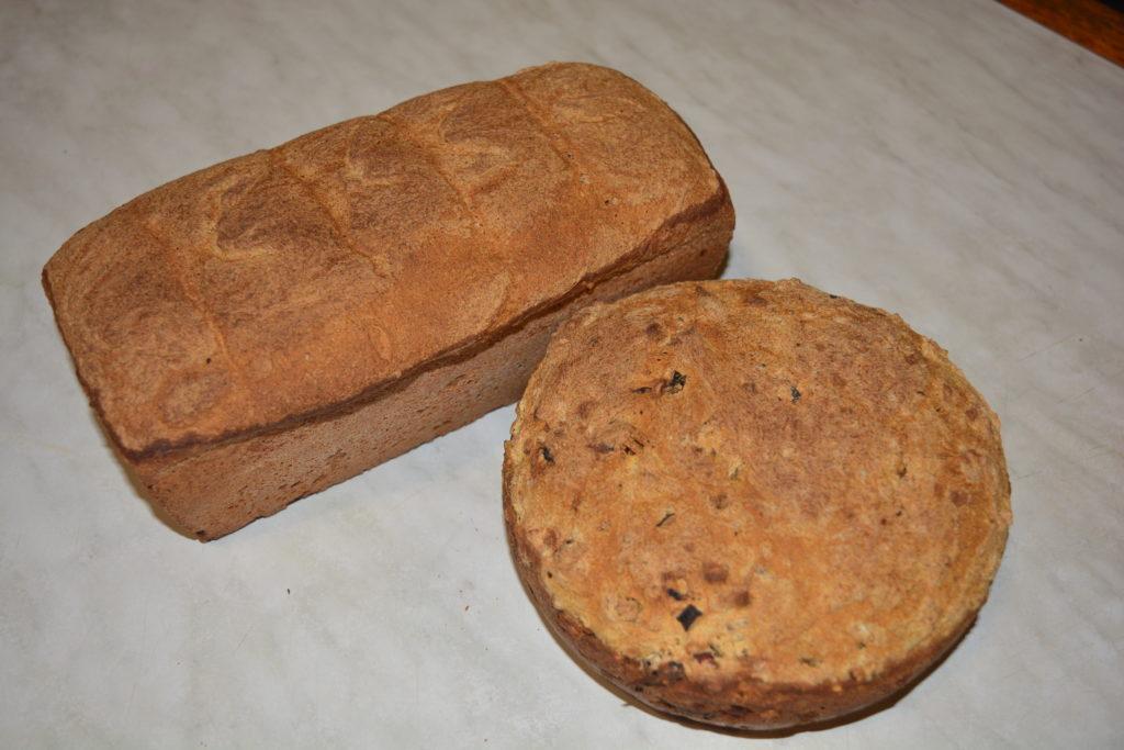 Хліб на заквасці з цільнозернової муки.